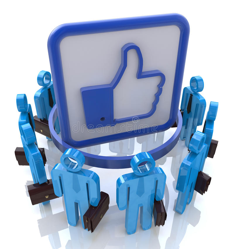 Download Group Of People With Like Symbol. Social Network C Stock Illustration - Image: 37906652