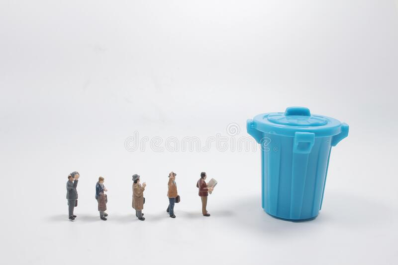 Group of people that lost job , company threw the employer royalty free stock image