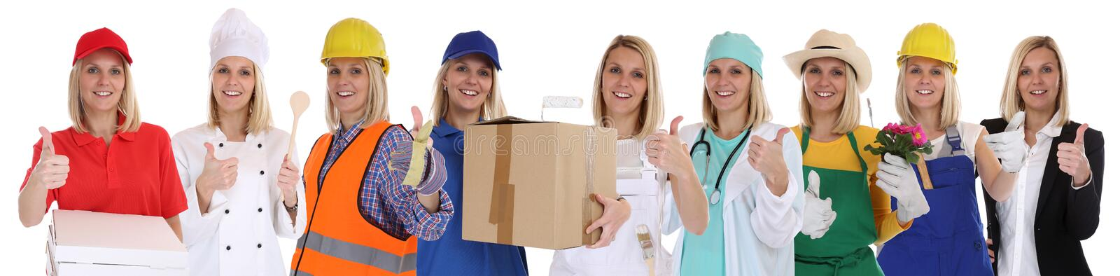 Group of people professions women business success successful ca royalty free stock photo