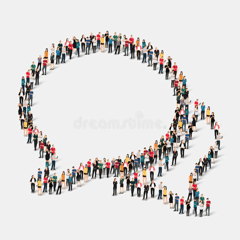 Free Group People Shape Chat Bubbles Stock Image - 59157821