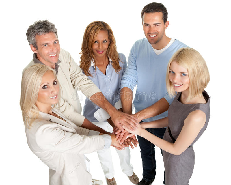 Download Group Of People Stacking Their Hands Together Stock Photo - Image: 26648308