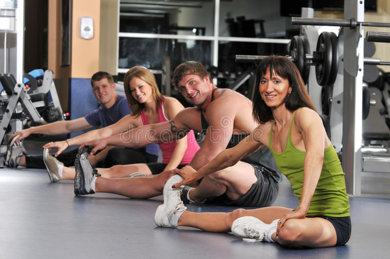 Download Group of people stretching stock image. Image of exercise - 12956445