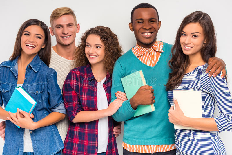 Group of people students stock images