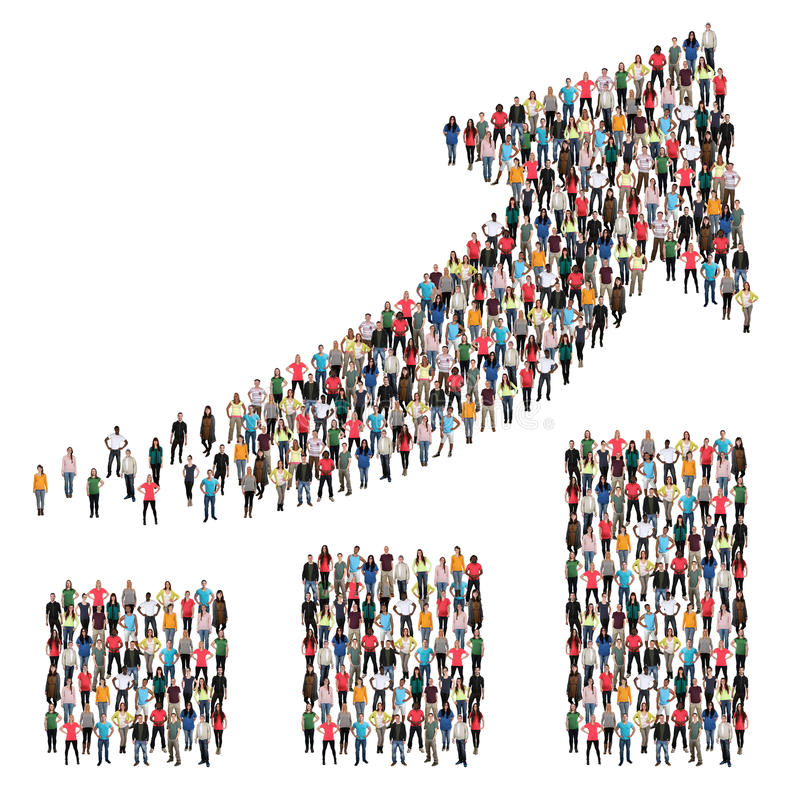 Group of people success business improve successful growth chart royalty free stock photo