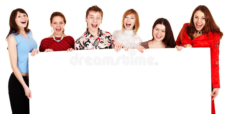 Download Group Of People Take Banner. Stock Image - Image: 12672513