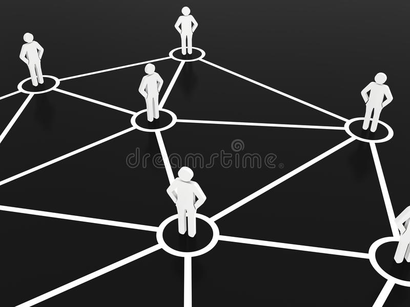 Group of people talking on global social networks royalty free illustration