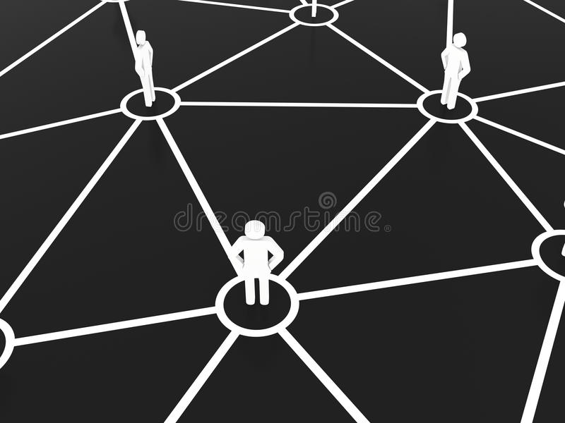 Group of people talking in social business network stock illustration
