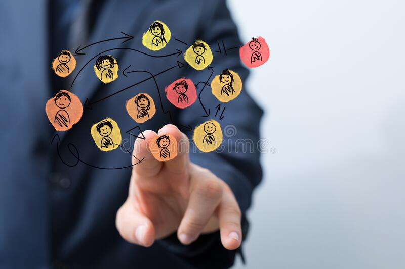 A group of people talking in social network. Group of people talking in social network royalty free stock images