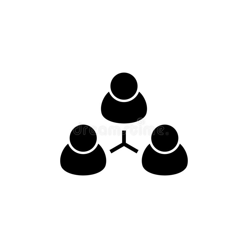 Group People, Team Flat Vector Icon vector illustration