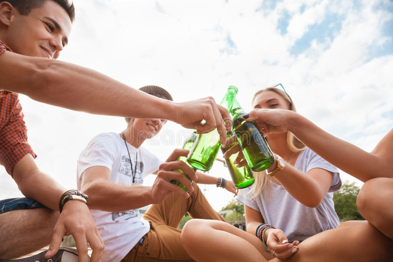 Group Of People Toasting stock photos