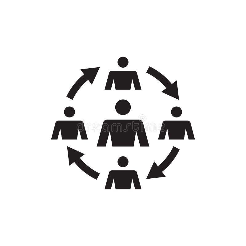 Group of people - vector icon design. Teamwork friendship sign. Social media symbol. royalty free illustration