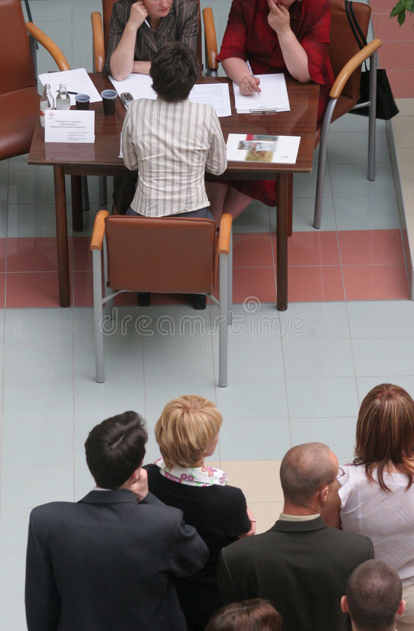 Group Of People Waiting For Interview Stock Photography