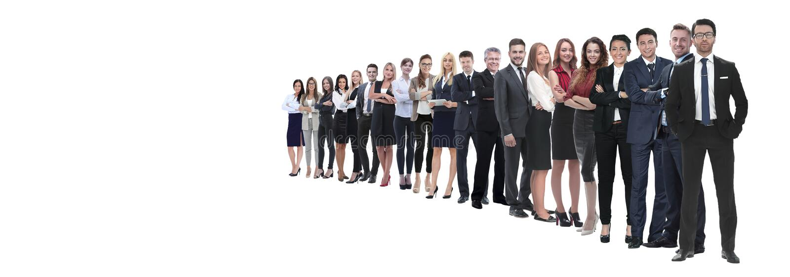 Template with a crowd of business people stock photography