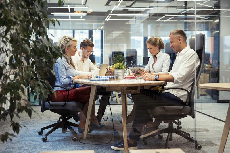 Group of people working together royalty free stock photography