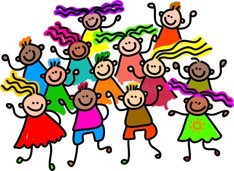 Download Group photo stock illustration. Image of group, children - 10048963