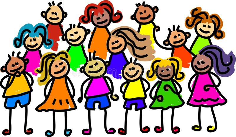 Group photo royalty free illustration