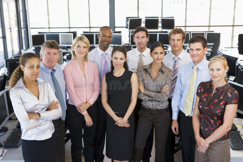 Group Photo Of Stock Traders Team royalty free stock photo