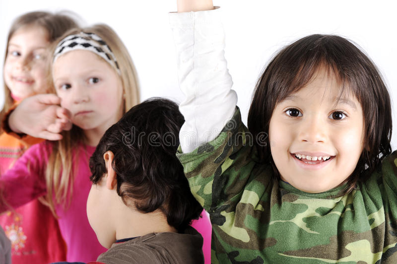 Group of playful children royalty free stock images