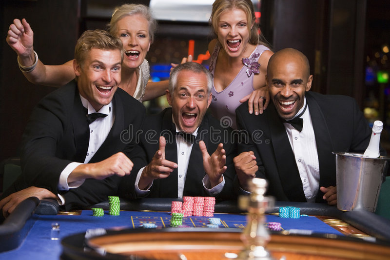 Download Group Playing Roulette stock image. Image of horizontal - 4777683