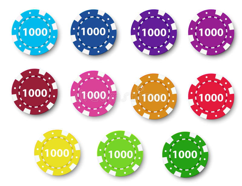 A group of poker chips royalty free illustration