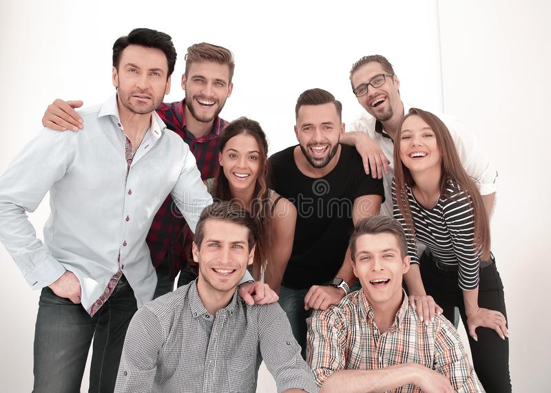 Group portrait of creative business team stock photography