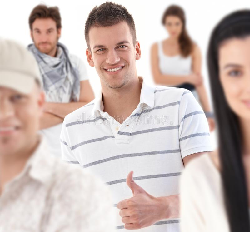 Download Group Portrait Of Happy Young People Stock Image - Image: 25700909