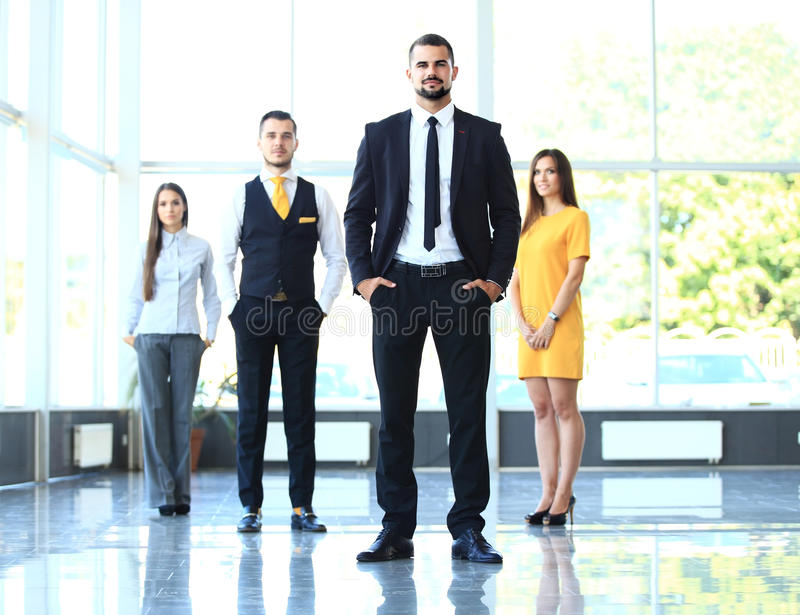 Group portrait of a professional business team royalty free stock photography