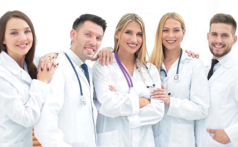 Group portrait of a professional medical team. The concept of health stock photography