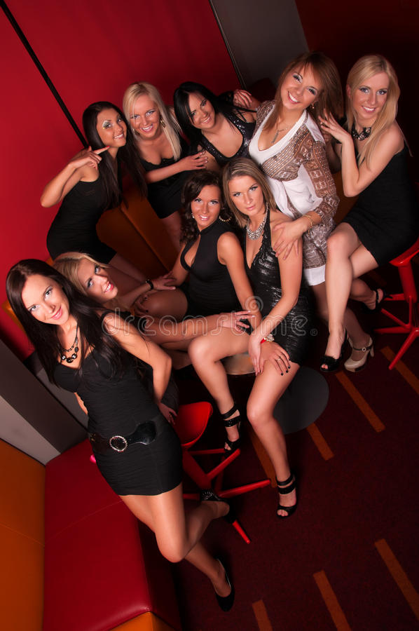 Download Group Of Pretty Girls In Night Club Royalty Free Stock Image - Image: 24922726