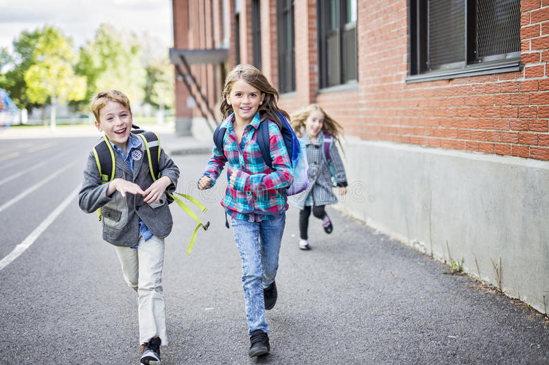 Download Group Of Primary Pupils Outside Classroom Stock Photo - Image of standing, portrait: 99106696