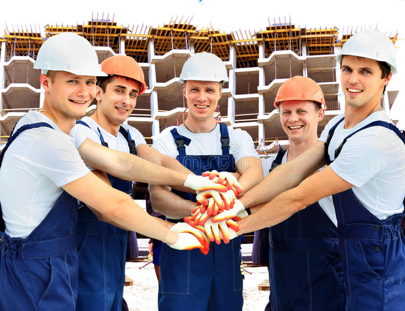 Group of professional construction stock images