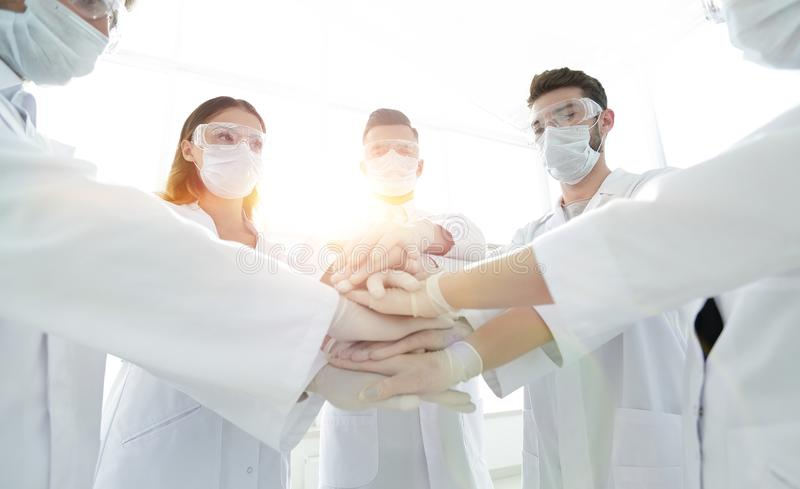 Group of professional doctors stock image