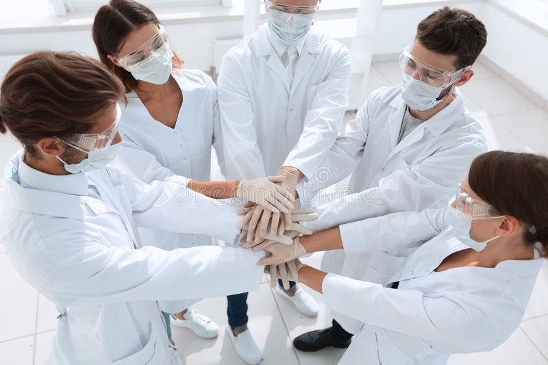 Group of professional doctors stock photos