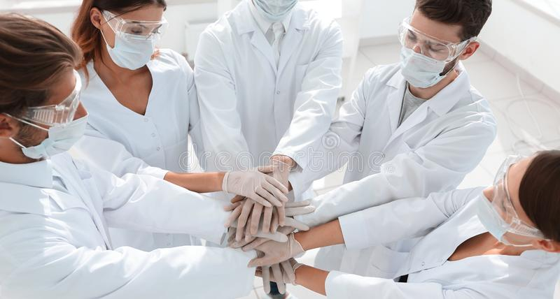 Group of professional doctors stock images