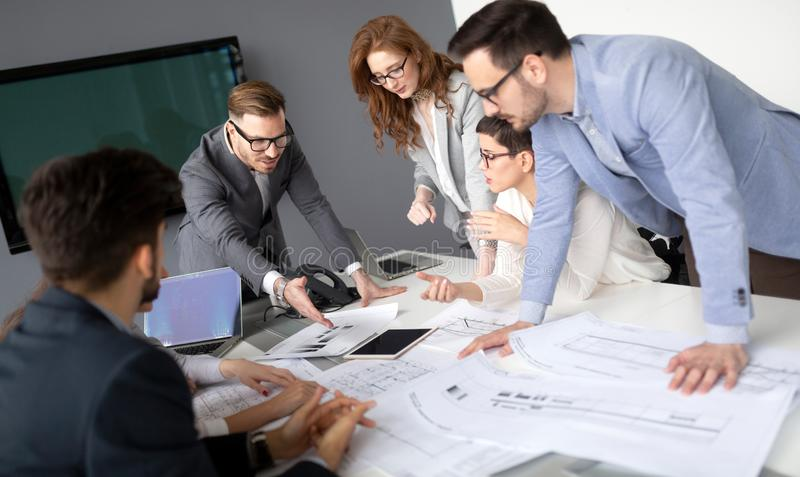 Group of professional successful young business people stock photography