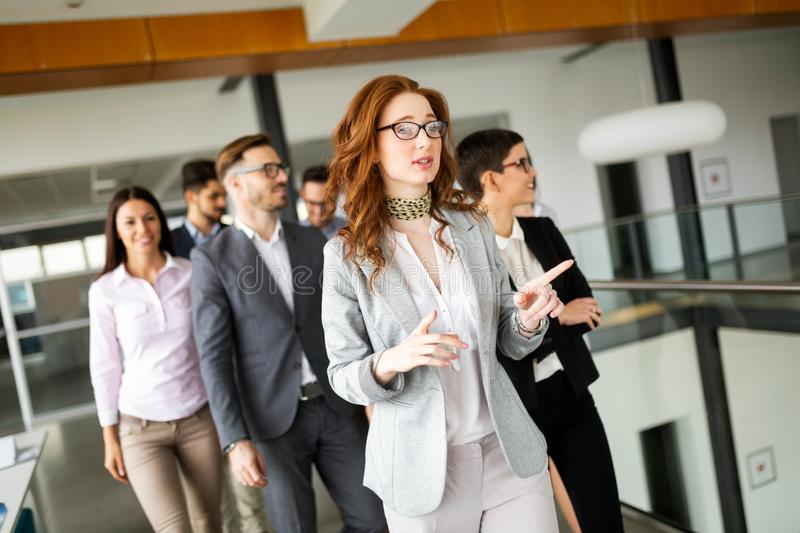 Group of professional successful young business people royalty free stock photos