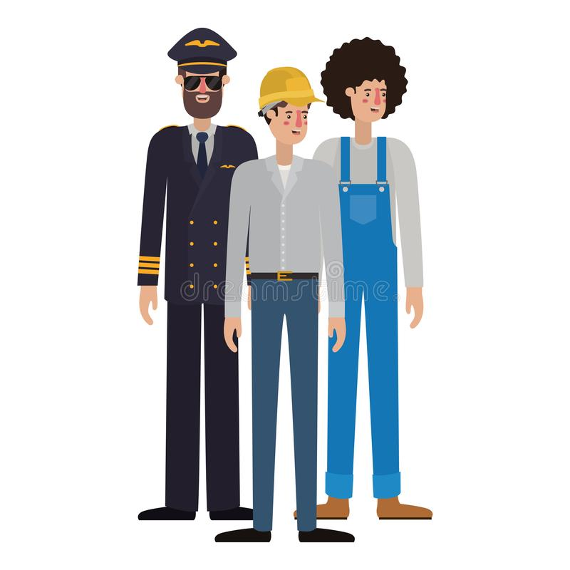 Group of professionals avatar character. Vector illustration desing vector illustration