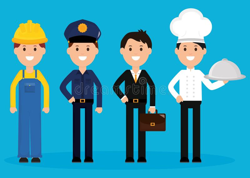 Group of professionals workers. Vector illustration design vector illustration