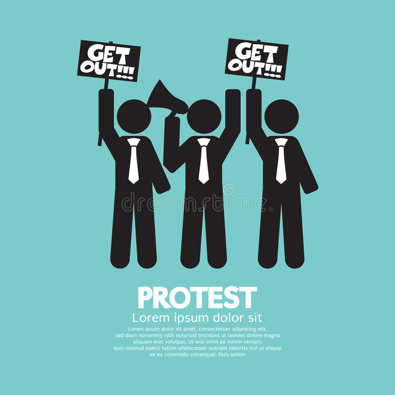 Group Of Protester Graphic Symbol stock illustration