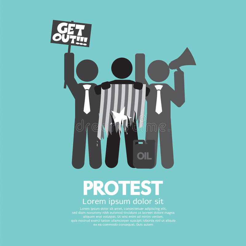 Group Of Protester Graphic Symbol. vector illustration