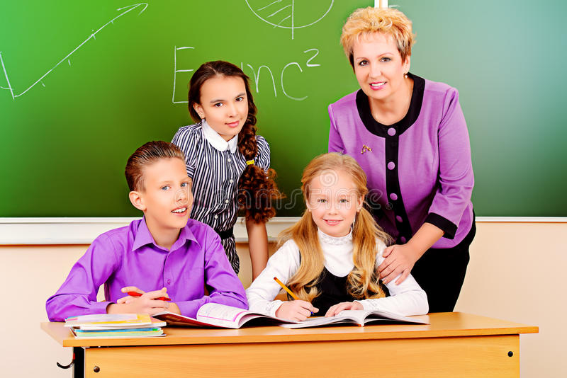 Group of pupils royalty free stock photo
