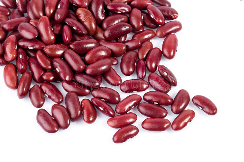 Group of red beans on white background royalty free stock photography