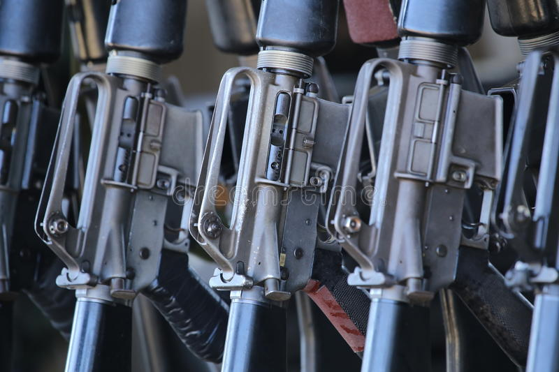 Group of rifles royalty free stock images