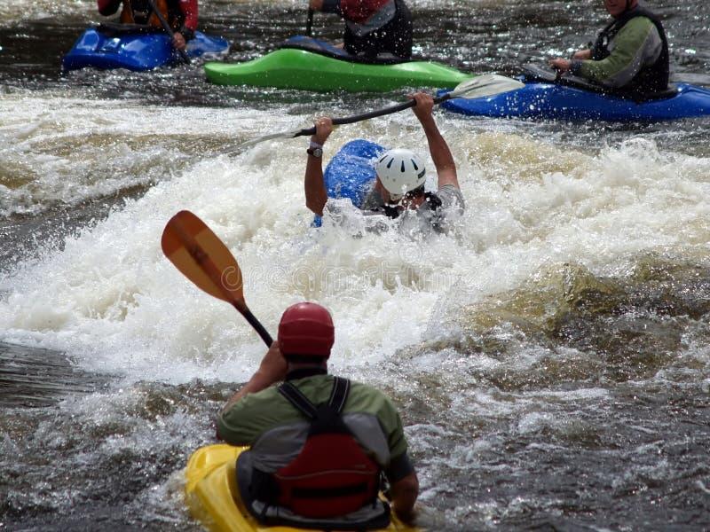 Group of River Kayaks