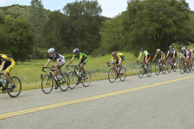 A group of road bicyclists