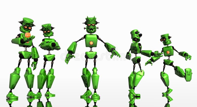 Group of robots royalty free stock photography