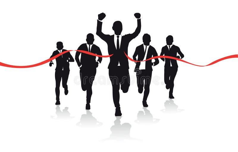 Group of runners stock illustration