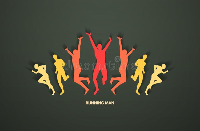 A group of runners. Design for sport and business. Sport concept. Vector illustration royalty free illustration