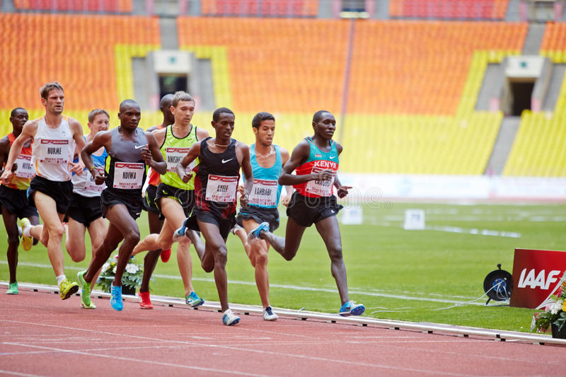Group Of Runners On Race Track Editorial Image