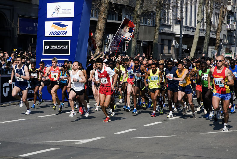 Download A Group Of Runners In Start-1 Editorial Stock Photo - Image: 19197743